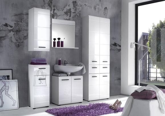 Trendteam Vannitoamööbli komplekt Skin valge