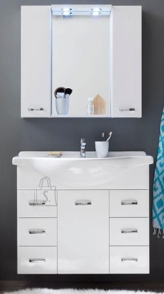 Trendteam Vannitoamööbli komplekt + valamu AQUA valge LED