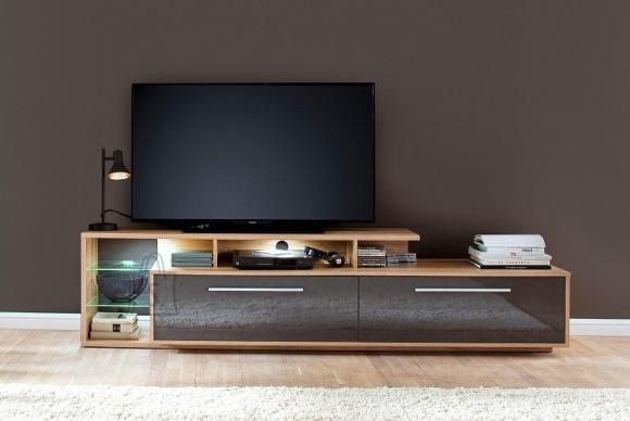 Trendteam Tv-alus KUBA hall läige / tamm, 212x42xH52 cm