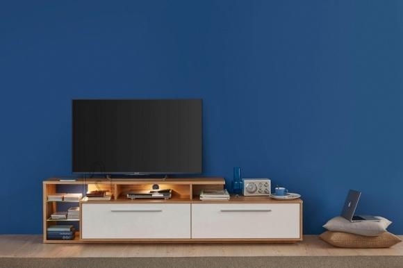 Trendteam Tv-alus KUBA valge läige / tamm, 212x42xH52 cm