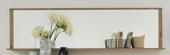 Trendteam Peegel riiuliga LODGE helepruun, 194x18xH54 cm