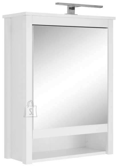 Trendteam Peegelkapp OLE valge, 62x25xH80 cm, LED