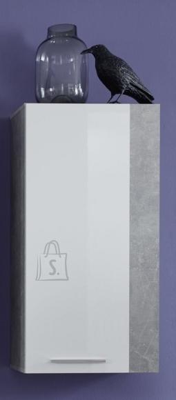 Trendteam Seinakapp ROCK valge läige / hall, 52x31xH103 cm