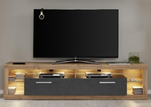 Trendteam Tv-alus ROCK tumehall / tamm, 200x44xH48 cm, LED