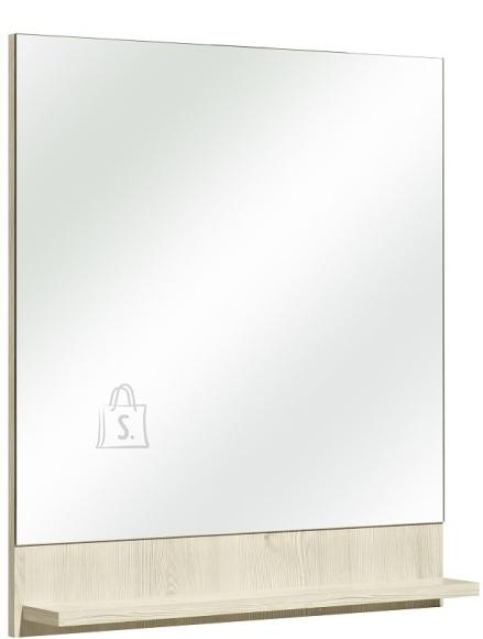 Pelipal Peegel riiuliga JAN helepruun 60x10xH68 cm