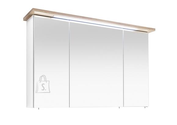 Pelipal Peegelkapp NOVENTA valge / tamm, 115x20xH72 cm, LED