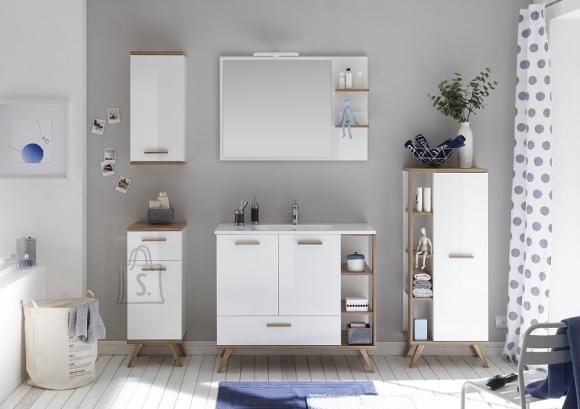 Pelipal Vannitoamööbli komplekt NOVENTA valge / tamm, LED