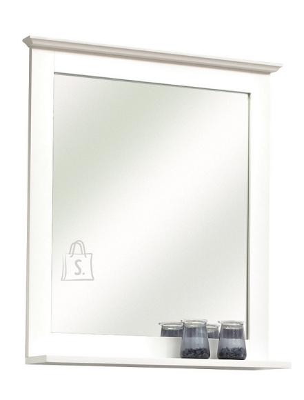 Pelipal Peegel riiuliga JASPER valge, 60x12xH68 cm