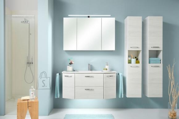 Pelipal Vannitoamööbli komplekt AMORA + valamu valge tamm LED