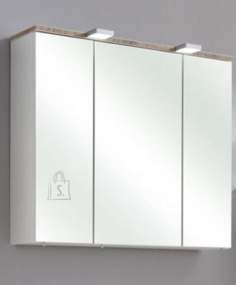 Pelipal Peegelkapp BURGAS valge läikega, 80x20xH70 cm LED