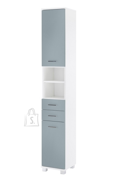Schildmeyer Vannitoakapp LUMO sinine / valge, 30x33xH194 cm