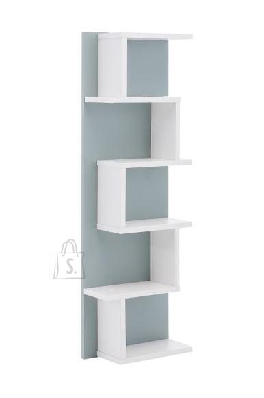 Schildmeyer Seinariiul LUMO sinine / valge, 30x15xH98 cm
