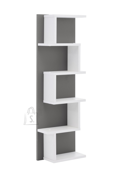 Schildmeyer Seinariiul LUMO tumehall / valge, 30x15xH98 cm