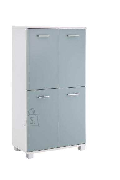 Schildmeyer Vannitoakapp LUMO sinine / valge, 60x33xH117 cm