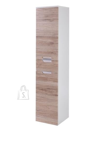 Schildmeyer Vannitoakapp MARS tamm / valge läige, 33x36xH159 cm