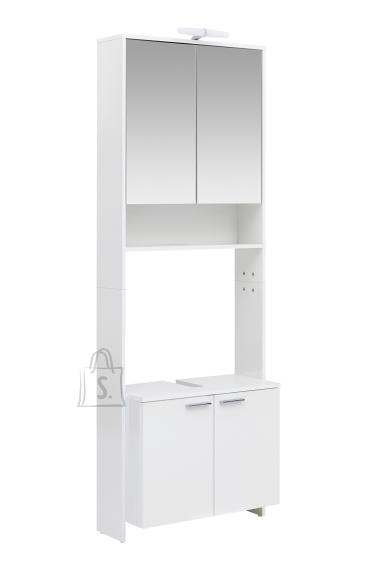Schildmeyer Vannitoakapp + peegelkapp LUIS valge läige, 68,5x32xH197 cm