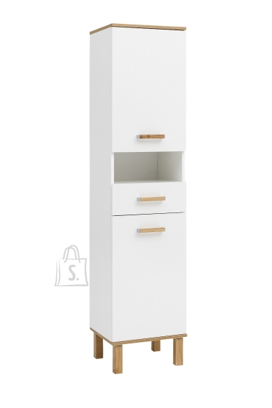 Schildmeyer Vannitoakapp PADUA valge läige / tamm, 40x35xH178,5 cm