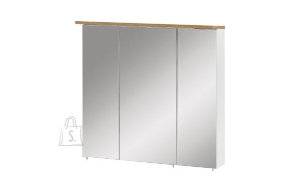 Schildmeyer Peegelkapp PADUA valge läige / tamm, 70,5x15,8xH72 cm