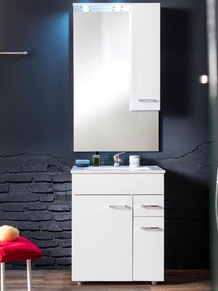 Trendteam Vannitoamööbli komplekt MINKA valge läige LED