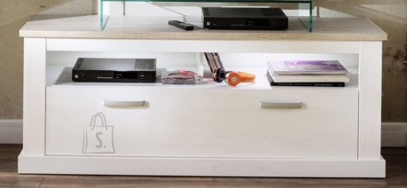 Trendteam TV-alus + riiul ROMA valge mänd, 150x45xH60 cm