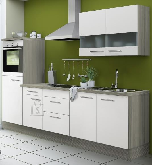 OPTIbasic Köögikomplekt OPTIkoncept valge läikega 270 cm