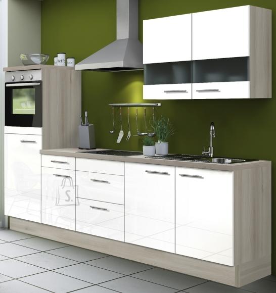 OPTIbasic Köögikomplekt OPTIkoncept valge kõrgläige 270 cm