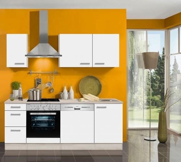 OPTIbasic Köögikomplekt OPTIflexx 210 cm, valge või antratsiit