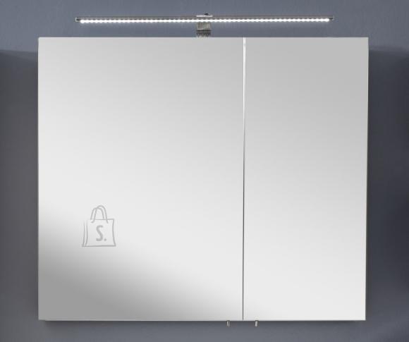 Peegelkapp OPTIbasic 4060 valge läikega, 80x17,6xH72 cm LED