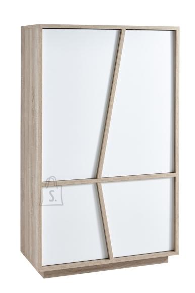 Demeyere Kapp NATURE tamm / valge, 91,2x42,3xH149 cm