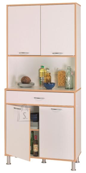 Demeyere Köögi puhvetkapp BUFFETS valge/pöök, 82,8x40,1xH185,3cm