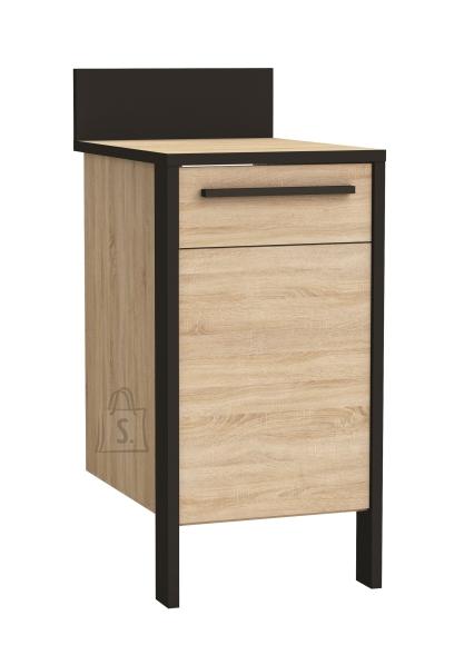 Demeyere Köögikapp FABRIK tamm/must, 44,2x60xH100cm