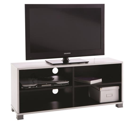 Demeyere TV-alus GRAFIT 101,2x29,4xH43,5cm, valge / must