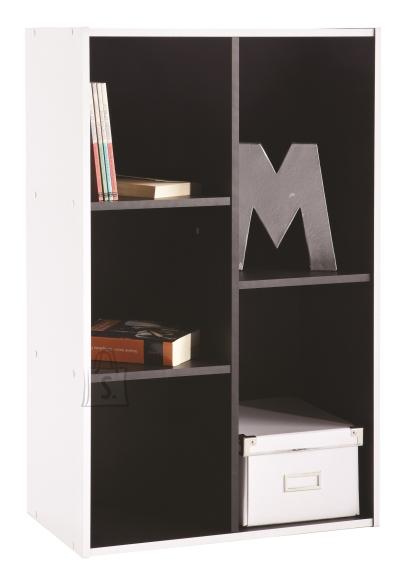 Demeyere Raamaturiiul GRAFIT valge / must, 50,5x29,1xH80,3 cm