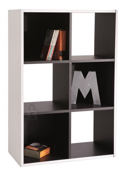 Demeyere Raamaturiiul GRAFIT 60,3x29,4xH89,6cm, valge / must