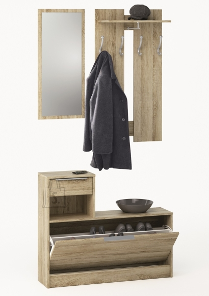 Demeyere Esikukomplekt CLOTHHANGE tamm, 98x26xH200 cm