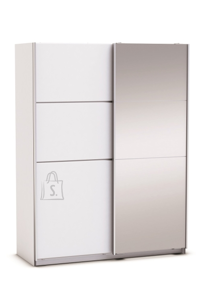 Demeyere Riidekapp GLASSY valge, 154x64,7xH203 cm