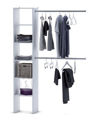 Demeyere Garderoobisüsteem IDEECO valge, 140x39,6xH203cm