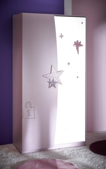 Demeyere Riidekapp FEE roosa, 93,3x50xH182,8cm