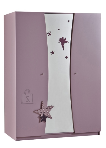 Demeyere Riidekapp FEE roosa, 134,5x50xH183 cm