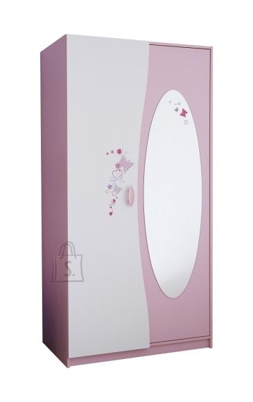 Demeyere Riidekapp PAPILLON roosa / valge,  93x51,5xH183 cm