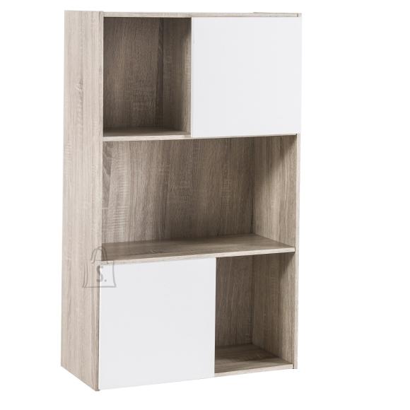 Demeyere Raamaturiiul POLSI tamm / valge, 61x31xH106,3 cm