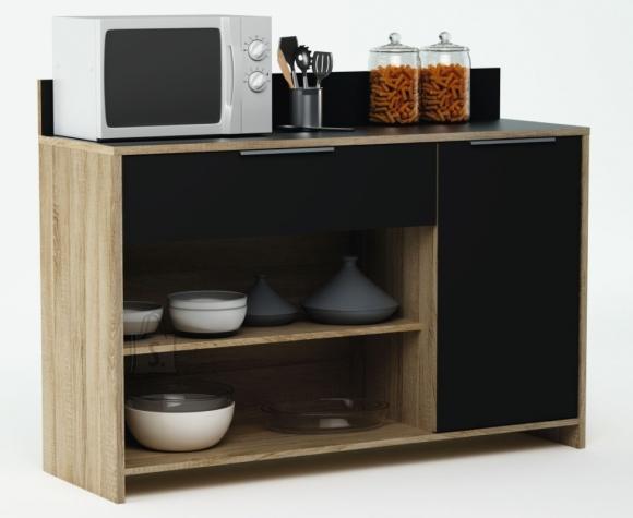 Demeyere Köögikapp MIKE tamm/must, 123x40xH85cm