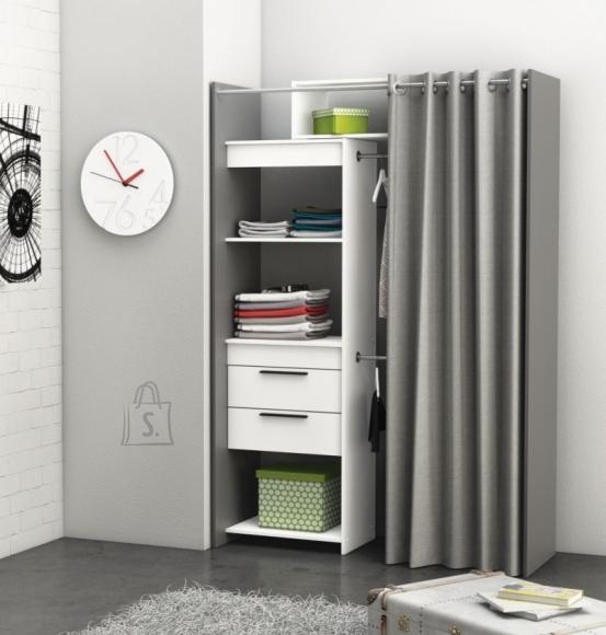 Demeyere Garderoobisüsteem DRESS valge/hall, 112,2-168x50,1xH208,7cm