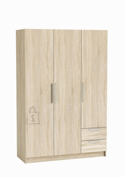 Demeyere Riidekapp GLORY tamm, 132,2x51,5x198,5 cm