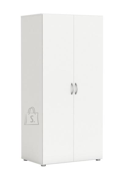 Demeyere Riidekapp ZIP 2 valge, 80,4x51,5xH166,6 cm