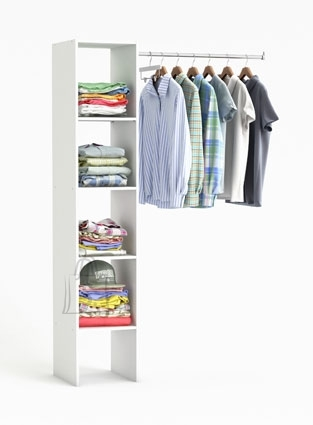 Demeyere Garderoobisüsteem BASIC valge, 120x39,6x185,5 cm