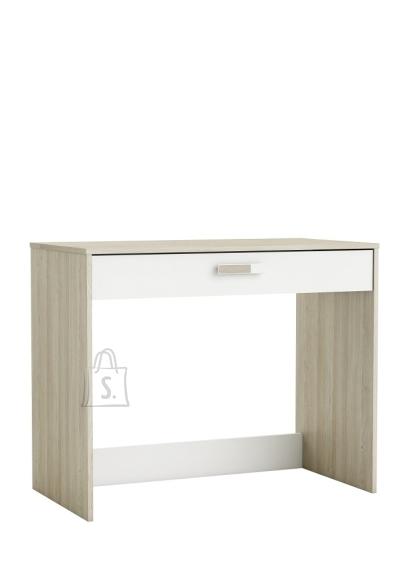Demeyere Kirjutuslaud SWITCH tamm / valge, 94,4x50,1xH76,4 cm