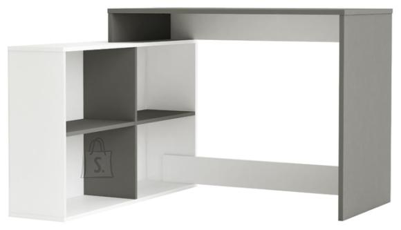 Demeyere Kirjutuslaud CORNER valge / hall, 112x101xH76,7 cm