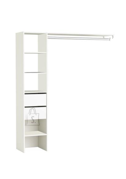 Demeyere Garderoobisüsteem DUO valge, 160x39,6xH187 cm