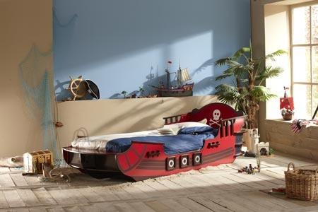 Demeyere Lastevoodi CRAZY SHARK punane 90x190/200 cm